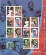 2000 Ireland Millennium People Gandhi Mandela Ali Teresa  Miniature Sheet Of 12 MNH - Mahatma Gandhi
