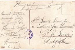 Carte Fantaisie Expédiée Par Un Prisonnier Du Camp De Hameln (Hannover) Vers Latinne (Braives) - WW I