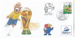 Algérie-Algeria-RARE Enveloppe Philatelique Tirage Limitée Coupe Du Monde France 1998-RONALDO - 1998 – Frankreich