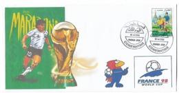 Algérie-Algeria-RARE Enveloppe Philatelique Tirage Limitée Coupe Du Monde France 1998-MARADONA - 1998 – Frankreich