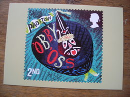 Curious Customs, Padstow Cornouailles, Obby Oss Cheval Bâton - Stamps (pictures)