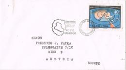 34644. Carta ANTARTIDA ARGENTINA  1968. Destacamento Naval Decepcion. Stamp Doble Vuelo Trans Polar - Tierras Australes Y Antárticas Francesas (TAAF)