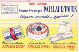 Buvard Fromage Beurre Paillaud Tours - Produits Laitiers