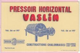 Buvard Matériel Agricole Agriculture Campagne Pressoir Horizontal Vaslin - Agriculture