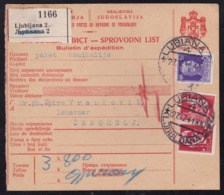 Lubiana (Ljubljana), Parcel Card, Mailed 1941 To Črnomelj, Very Good Quality - 9. Besetzung 2. WK (Italien)
