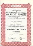 S.A. Pour Le Traitement Industriel Des Ordures Ménagères - Rocourt - Actions & Titres
