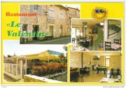 """Carte Postale 07. Saint-Alban-Auriolles  Restaurant """"Le Valentin""""  Billard Trés Beau Plan - France"""