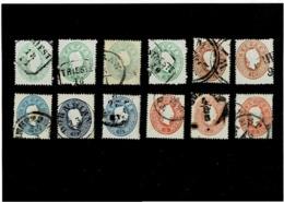 Austria ,12 Pezzi Usati Con Ripetizioni ,qualita Splendida - 1850-1918 Impero