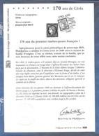 FRANCE 170 Ans Du Premier Timbre Français Cérès Issu De Feuille N°5305A Oblitéré Premier Jour 14.03.2019 - FDC