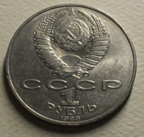 1988 - Russie - Russia - Urss - CCCP - ROUBLE, 160th Anniv Birth Of TolstoÏ, Y 216 - Rusland