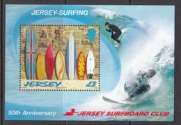 2009 Jersey Surfing Dude Souvenir Sheet   MNH @ BELOW FACE Value - Briefmarken