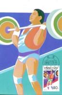 CHINE. N°3124 Sur Carte Maximum De 1992. Haltérophilie/J.O. De Barcelone. - Gewichtheben