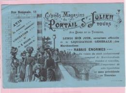 Buvard Commerce Magasin Ancien Tours Portail Saint Julien Dames De Touraine 2 - Carte Assorbenti