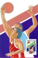 CHINE. N°3121 Sur Carte Maximum De 1992. Basket/J.O. De Barcelone. - Basketball