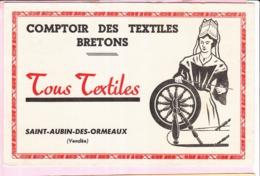 Buvard Textiles Tissus Comptoir Breton Saint Aubin Des Ormeaux 85 - Textile & Vestimentaire
