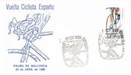34646. Carta  PALMA De MALLORCA (Baleares) 1986. Vuelta Ciclista España. Ciclismo - 1931-Hoy: 2ª República - ... Juan Carlos I