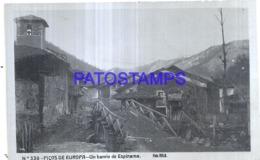 124104 SPAIN ESPAÑA PICOS DE EUROPA UN BARRIO DE ESPINAMA POSTAL POSTCARD - Espagne