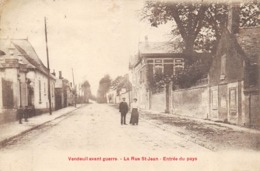 CPA 02 VENDEUIL AVANT GUERRE LA RUE ST JEAN ENTREE DU PAYS - France