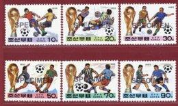 Korea 1993, SC #3213-18, Specimen, USA World Cup, Football - Fußball-Weltmeisterschaft