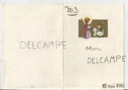 Menu De Communion De M.S. Le 12 Mai 1963. - Menus
