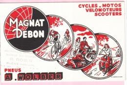 Buvard Cycle Cyclisme Vélomoteur Scooters Wolber Magnat Debon - Transports