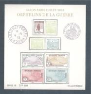 France, Bloc Feuillet, F5226, 5226/5233, Bloc Neuf **, TTB, Orphelins De La Guerre, Paris Philex, Salon Du Timbre 2018 - Neufs
