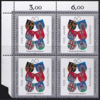 """BRD, 1991 Nr. 1528 **,  Viererblock Mit Eckrand Oben Links, """"700 Jahre Stadtrechte Für ..."""" - Nuovi"""