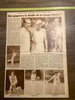 1932 1933 M TENNIS FINALE DE LA COUPE DAVIS BOROTRA RENE LACOSTE VON CRAMM HENRI COCHET SUZANNE LENGLEN TOTO BRUGNON - Vieux Papiers
