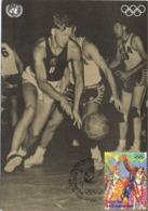 34647. Tarjeta Maxima ONY New York 1996. Baloncesto, Basket Ball Helsinki 1952 - Basketball
