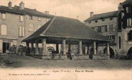 9858-2019    CAYLUS   PLACE DU MARCHE - Francia