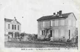 47)  BOE   - La Mairie Et Maison D' Ecole - Autres Communes