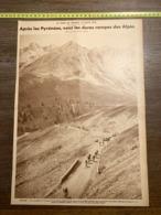 1932 1933 M CYCLISME NICE GAP COL D ALLOS - Vieux Papiers