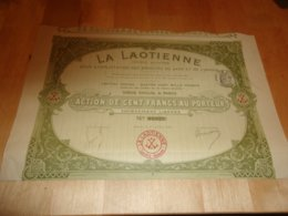 LA LAOTIENNE  Produits Du Laos Et De L'annam (1905) - Shareholdings
