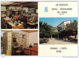 Carte Postale 07.  Orgnac  L'Aven  Hotel-Restaurant De L'Aven  Mr. P. Sarrazin Chef D Cuisine  Trés Beau Plan - France