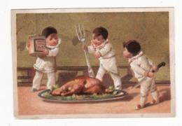 Chromo LIEBIG   Pierrots   Cuisine, Plat Cuisiné     Testu Et Massin       11 X 7.4 Cm - Liebig