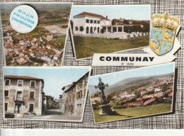 38 - Très Belle Carte Postale Semi Moderne Dentelée De   COMMUNAY   Multi Vues - Other Municipalities