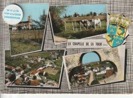 38 - Très Belle Carte Postale Semi Moderne Dentelée De   LA CHAPELLE DE LA TOUR   Multi Vues - Other Municipalities
