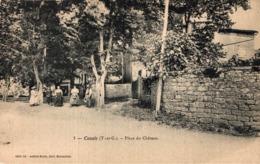 9863-2019    CAZALS   PLACE DU CHATEAU - Francia