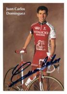 CARTE CYCLISME JUAN CARLOS DOMINGUEZ SIGNEE TEAM VITALICIO 1998 - Cycling