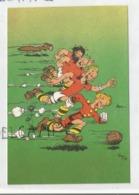 Trésor Du Journal De Spirou.Spirou, Fantasio, Spip, Tif Et Tondu Jouent Au Football. Signée Franquin 1947 (reproduction) - Bandes Dessinées