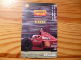 Phonecard Japan 110-011 Car Race, F1, Shell - Japon