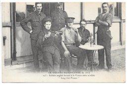 Cpa...Nantes...(loire-inf.)...la Guerre Européenne De 1914...soldats Anglais Buvant A La France Amie Et Alliée...animée. - Nantes