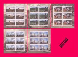 TRANSNISTRIA 2019 Tourism Architecture Powder Magazine In Tiraspol Fortress Tower Kitskany Monastery Monument 5 M-s MNH - Holidays & Tourism