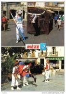 """Carte Postale 34. Mèze  Géant Le Boeuf Et  Le """"Chevalet""""  Trés Beau Plan - Mèze"""