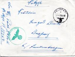 (2WK-3) Original Feldpostbrief 2.WK  TSt 8.5.1942 FELDPOST Gelaufen Nach Brednitz - Briefe U. Dokumente