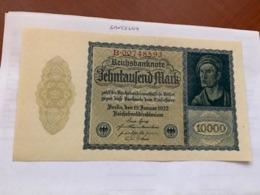 Germany 10000 Marks Banknote 1922 - [ 3] 1918-1933: Weimarrepubliek