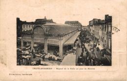 9875-2019      CASTELSARRASIN   ASPECT DE LA HALLE UN JOUR DE MARCHE - Castelsarrasin
