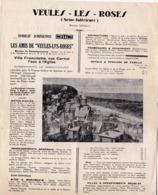 Veules Les Roses  (76 ) Feuillet Programme De L'été 1931 Par Le Syndicat D'Initiatives - Dépliants Touristiques