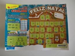 Loterie/ Lottery/ Loteria/ Lotaria Instant Instantânia Raspadinha Feliz Natal Jogo Nº 396 Portugal - Loterijbiljetten