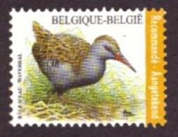 Belgique   2017 - Birds - Rallus Aquaticus  NEUF - Côte € 8.00 Registrered Letter Stamp - Belgique